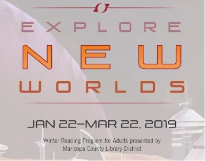 The Explore New Worlds Winter Reading Program for adults